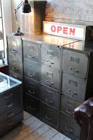 attic 1930 s steel 4 drawer filing cabinet