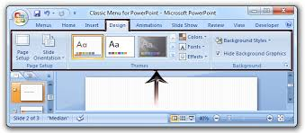 Design Slides For Powerpoint 2010 Where Is The Slide Design In Microsoft Powerpoint 2007 2010 2013