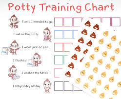 Potty Training Chart Printable Girl Potty Training Sticker Chart Reward Monkey Design For Toddler Girls And Boys Toilet Seat Motivational Weekly Progress Gift With 50 Poop Pee Sticker