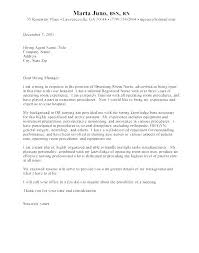 Operating Room Nurse Cover Letter New Nursing Graduate Cover Letter