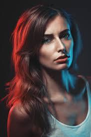 rebecca photographed as a gelled portrait by grzegorz biermanski