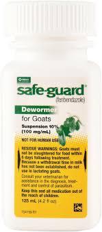 Safe Guard Suspension Dewormer For Goats 125 Ml Jeffers Pet