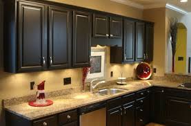 Staining Kitchen Cabinets Darker Excellent Dark Red Kitchen Cabinets And Red Stained Kitchen