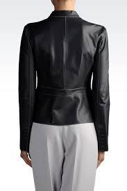 emporio collezione leather jacket