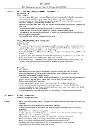 Social Media Specialist Resume Sample Social Media Marketing Specialist Resume Samples Velvet Jobs 7