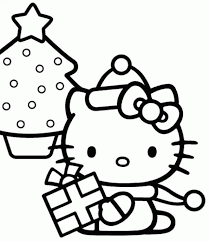 Small Picture Hello Kitty Colouring Pages Christmas Print Hello Kitty Doing