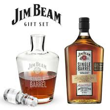 jim beam single barrel gift set with decanter