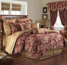 Red And Gold Bedroom Decor New Croscill Mystique Claret Red Gold Reversobe Comforter Only