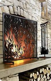 rustic fireplace screens by the botanical screen from crate u0026 barrel rustic fireplace screens l76 rustic