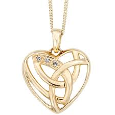 clogau 9ct gold eternal love diamond pendant necklace elp t h baker family jewellers
