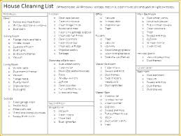Professional Schedule Template Free Professional House Cleaning Checklist Template Elegant