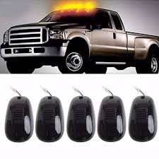 Pickup Roof Lights Details About 5x Smoked Amber Led Suv Lights Truck Off Road Cab Roof Top Marker Running Set
