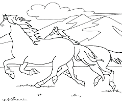 Coloring Pages Wild Horse Coloring Pages Horses Printable Herd