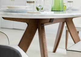 DINING ROOM Ring Table With Walnut Dyed Oak Solid Wood Base - Dining room table solid wood
