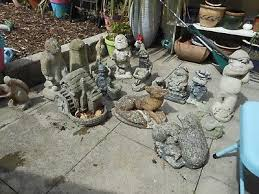 lovely vintage collection of stone concrete garden ornaments collect only nw10
