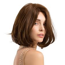 Light Brown Shoulder Length Wig Synthetic Wigs Medium Length Dark Brown Artificial Hair Wigs Micro Curly Hair Bob Wigs For Women