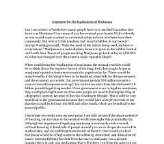 argument for the legalization of marijuana gcse english marked  document image preview
