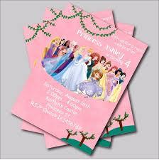 20 Pcslot Custom Princess Birthday Invitations Card Girls Baby