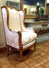 Wing Chairs For Living Room Attractive Antique Wingback Chair Design Inspiration With Gilt