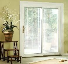 vinyl patio doors pella sliding door with blinds 350 series reviews