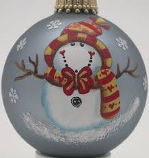 Hand Decorated Christmas Balls Hand Painted Ornament Snowman Pinterest Snowmen Pictures 19