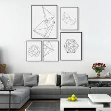 Small Picture Modern Nordic Minimalist Black White Geometric Shape A4 Large Art