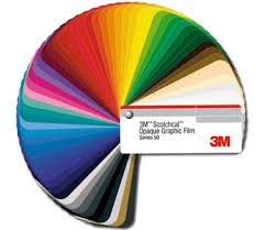 3m Scotchcal Graphic Film Series 50 Coloured Film