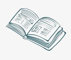 vector green open book with simple pen painting vector book green open book
