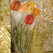 red tulips painting emily damask tulips iii by mindy sommers