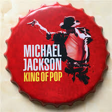 Decorated Bottle Caps 60x60cm King Of Pop Vintage Home Decoration Michael Jackson Simple 57