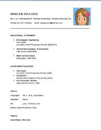 Gallery Of Sample Resume For Fresh High School Graduates With No