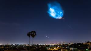 Lights In The Sky Los Angeles Today Beautiful Time Lapse Video Of The Spacex Falcon 9 Rocket