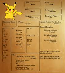 pokemon tabletop character sheet
