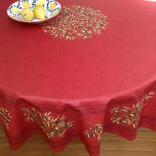 tablecloth large teflon coated round cloth for 6 to 8 seater round table