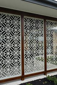 aluminium privacy screens outdoor melbourne. a gorgeous installation of the qaq decorative screen design \u0027washington\u0027 cut in mild steel aluminium privacy screens outdoor melbourne