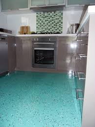 Rubber Floor Tiles Kitchen Dalsouple Terrazzo Rubber Flooring In A Kitchen In Coburg