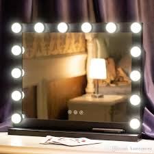 lighted tabletop makeup mirror with dimmable led lights high definition brightness adjule dressing table countertop vanity see larger image