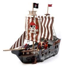 wooden pirate ship island set 68cm large floor stock