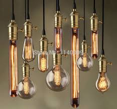 antique edison pendant light cord set brass lamp socket with 1m textile cable ceiling rose