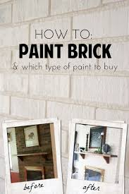 how to paint brick and which type of paint to how to paint a