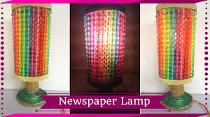 diy newspaper night lamp how to make lamp out of newspaper best out of waste maya kalista