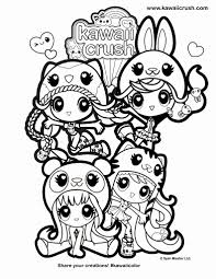 Kawaii is japanese for tiny, cute and cuddly. Kawaii Girl Coloring Page 1 Line 17qq Com