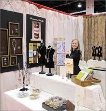 becky nunn of nunn design at trade show
