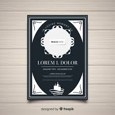 funeral flyer elegant funeral flyer template vector free download