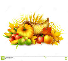 Illustration Of A Thanksgiving Cornucopia Full Of Harvest