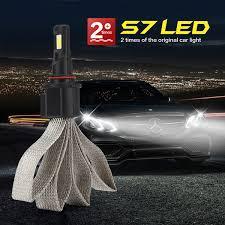 <b>2 PCS Car</b> Styling <b>S7 Car</b> LED Headlight Fog light 9005 12V COB ...
