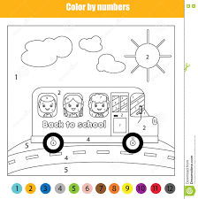 Small Picture School Bus Coloring Page Royalty Free Stock Photography Image
