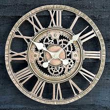 large outdoor garden wall clock open face metal big roman numerals outside vintage clocks australia