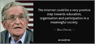 Internet Quotes Classy Noam Chomsky Quote The Internet Could Be A Very Positive Step