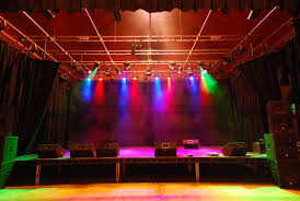 image of led stage lighting placed